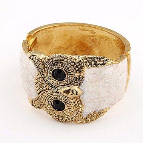 White Owl Bracelet Bangle