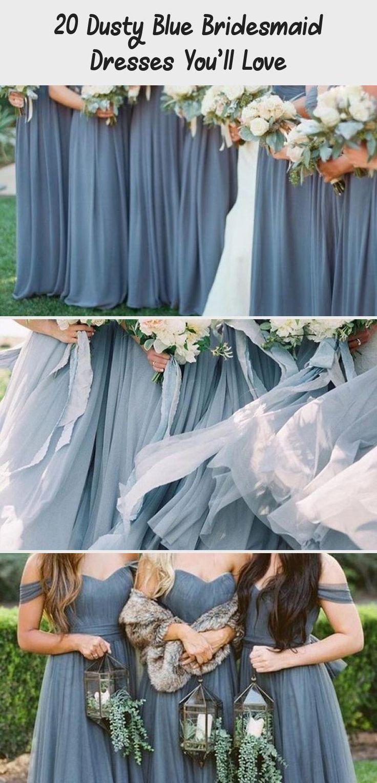 dusty blue wedding color ideas - dusty blue bridesmaid dresses #weddings #wedding #blueweddings #weddingcolors #weddingideas #dustyblue #beautiful #dresses #bridesmaid