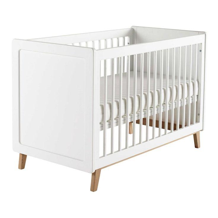 Lit bébé à barreaux en bois ... - Sweet