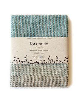 Torkmatta Växbo Lin Miljövänlig - 50x70 cm, Natur & Turkos - Lapland Eco Store - Ekologiskt & Giftfritt