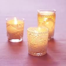 Vintage lace and candle light to compliment the gyp