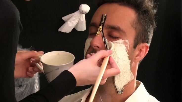 Halloween Make-up - Zipper Face hit schmuckladen.de