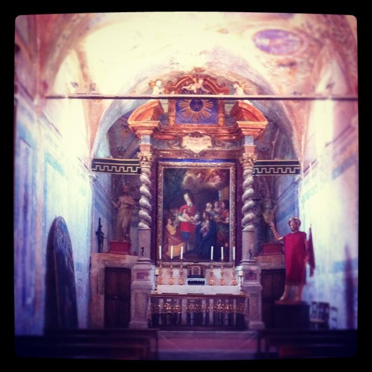 A church on Isola Maggiore, Lake Trasimeno www.romanticitalianweddings.com