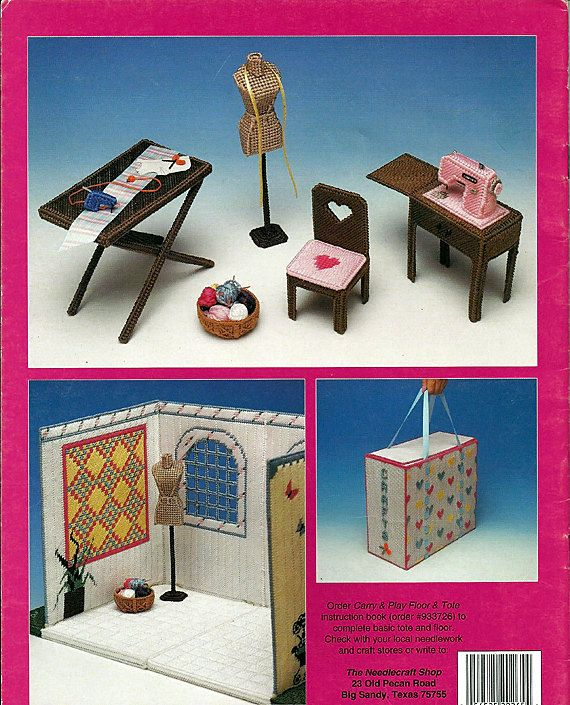 Fashion Doll Carry And Play Craft Room Barbie Plastic Canvas Pattern The Needlecraft Shop 943731