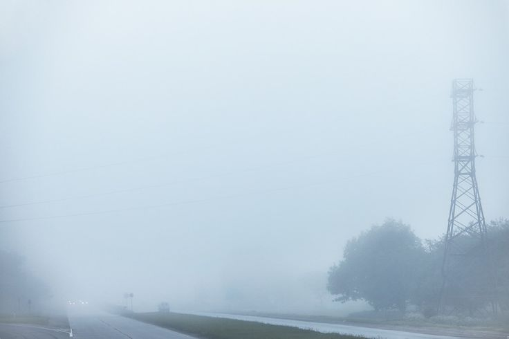 road and fog