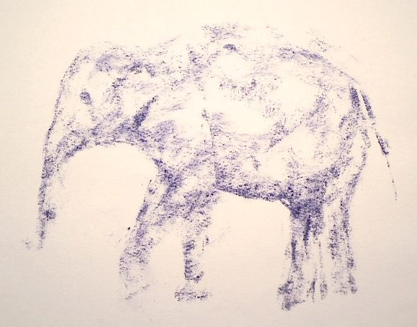 Mass drawing created for Elephant a Day blog