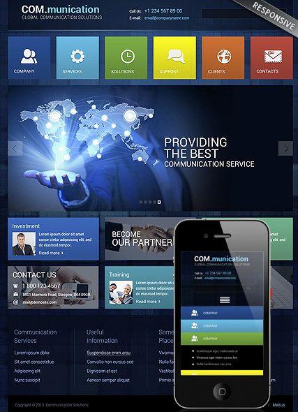 Communication website template