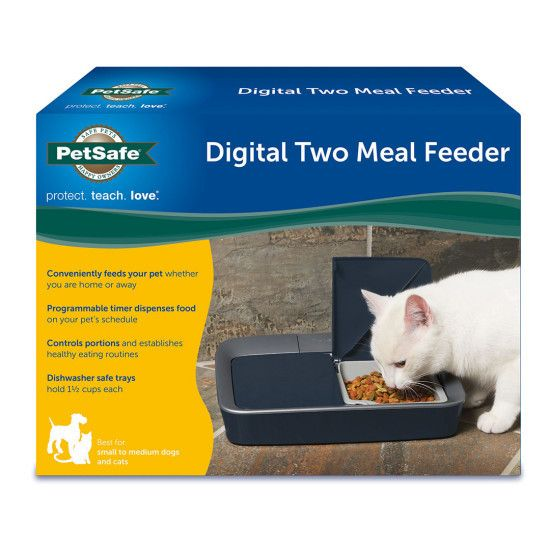 Digital Two Meal Feeder - The Purrfect Post