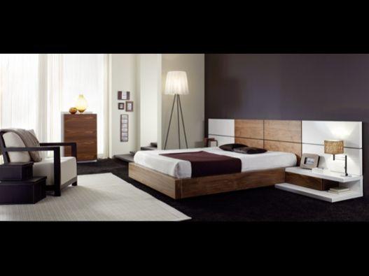 cama moderna de madeira