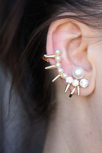 Orecchini a clip - Non piercing all'orecchio Cuff, orecchino di perla - un prodotto unico di SusyDeMarchi su DaWanda
