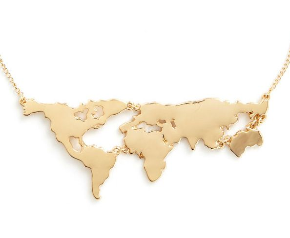 World Map necklace $19.99