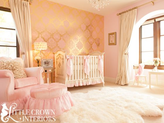 pink-and-gold nursery