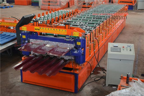 This is Peru customer ordered #double #layer #roofing #sheet #roll #forming #machine, one machine produce IBR sheet and trapezoidal profile sheet, very popular in South America.  The machine can use color steel plate, galvinazed steel plate, aluminum zinc plate, the feeding width is 1220mm, and thickness range is 0.3-0.6mm.