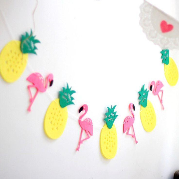 1 conjunto de Abacaxi Flamingo Decoração Guirlanda Cinta Decoração Da Festa de Aniversário Festa de Casamento DIY Artesanato Decorativo Adorno em de no AliExpress.com | Alibaba Group