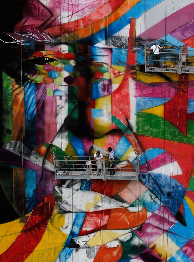 Captivating mural painting in Sao Paulo (Photo: Nacho Doce / Reuters)