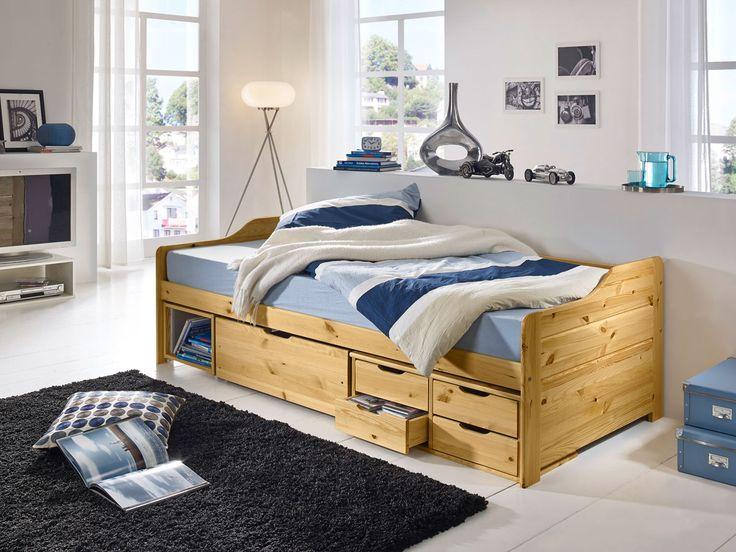 FINCA Jugendbett 90x200 cm, Massivholzbett Kiefer  Kiefer natur lackiert Jetzt bestellen unter: http://www.woonio.de/p/finca-jugendbett-90x200-cm-massivholzbett-kiefer-kiefer-natur-lackiert/