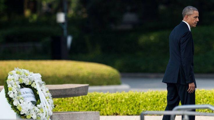Tu conseilleras le non nucléaire quand toi tu arrêteras d'être un va-t-en-guerre !!!!   Barack Obama, en visite à Hiroshima, appelle à un monde sans armes nucléaires