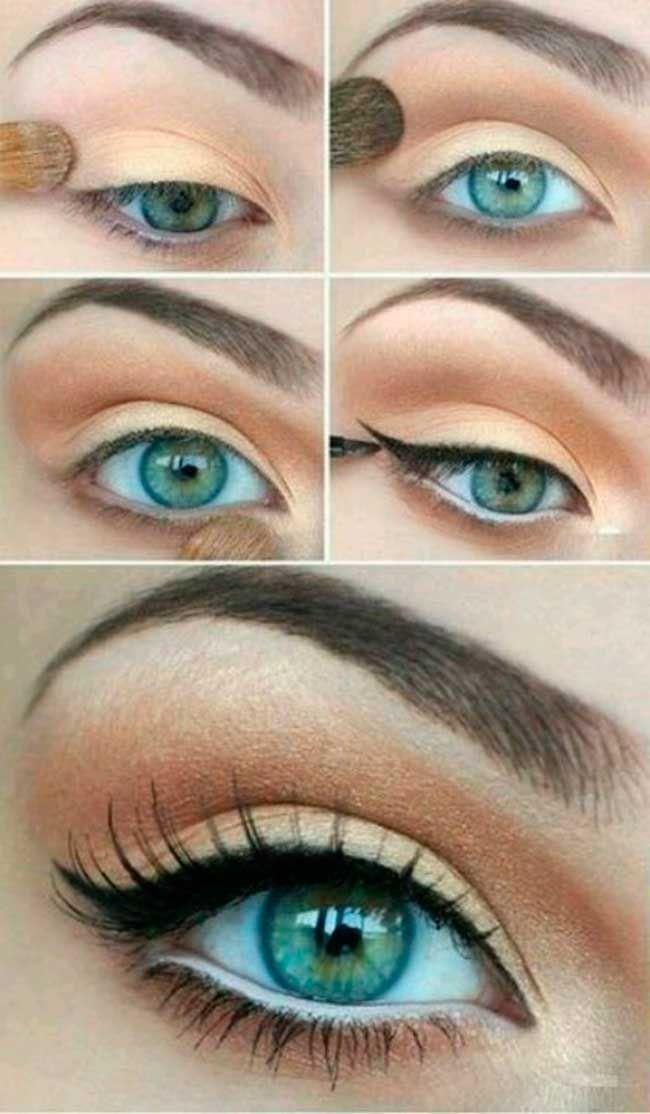 natural makeup - step by step