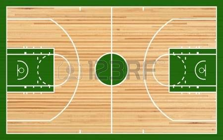 Cancha de baloncesto Plano de fondo parquet photo