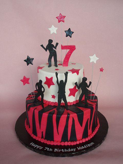 Rock Star - Dance Themed Cake by CakesUniqueByAmy.com, via Flickr