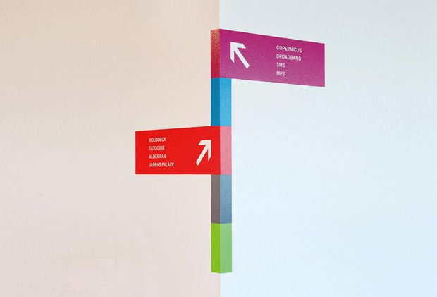 Colour wall signage