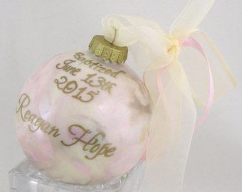 BABY DUE DATE Announcement Glass Keepsake by SnowflakeOrnament