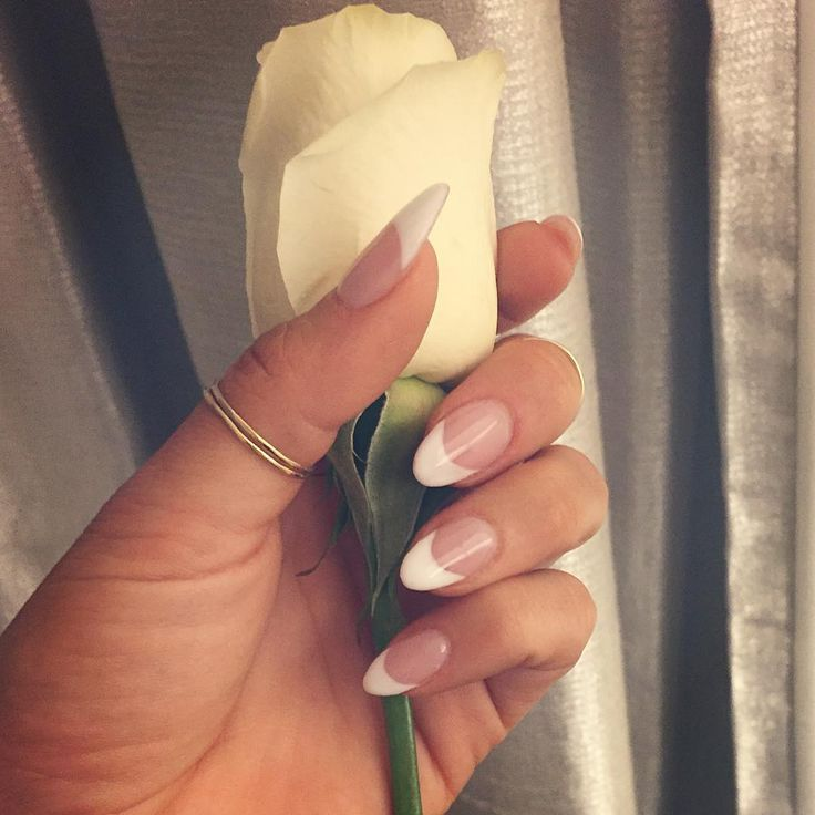 i wore almond french manicure for my wedding