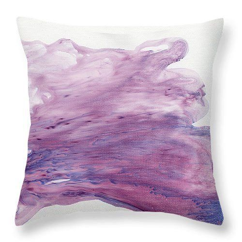 Purple Wave Original Printed Velveteen Throw Pillow Cover