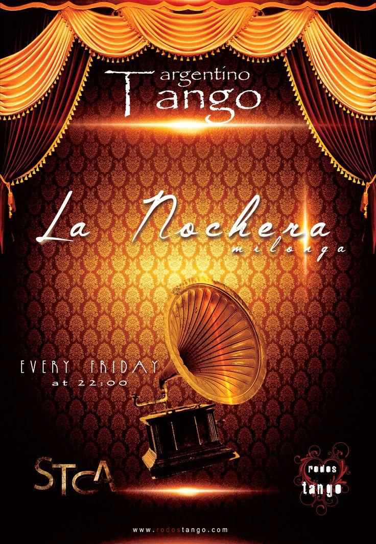 """Εβδομαδιαία βραδιά αργεντίνικου τάνγκο στην καρδια της ΡόδουMilonga """"La Nochera""""31 Μαρτίου 2017 ..."""