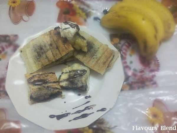 Grilled Chocolate Banana Sandwich Recipe | Food and Drinks | Pinterest