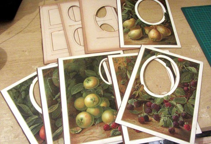 Victorian cdv photos framed photo album card mounts fruits photo frames