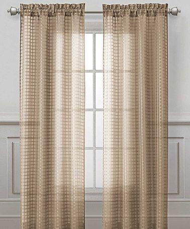 Take a look at this Taupe Drake Curtain Panel by Victoria Classics on #zulily today!  $8.99 ships in time for Christmas. Join Zulily and get $15 after 1st purchase...refer as many friends as you want...you get $15 and your friends get $15.00 after their 1st purchase ships!