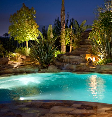 tropical outdoor lighting. love the lighting pool landscaping poollandscape 287x300 swimming landscape tropical outdoor lighting c