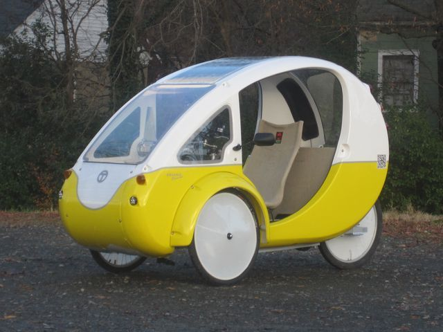 Ride an ELF bike-car to work and skip the shower