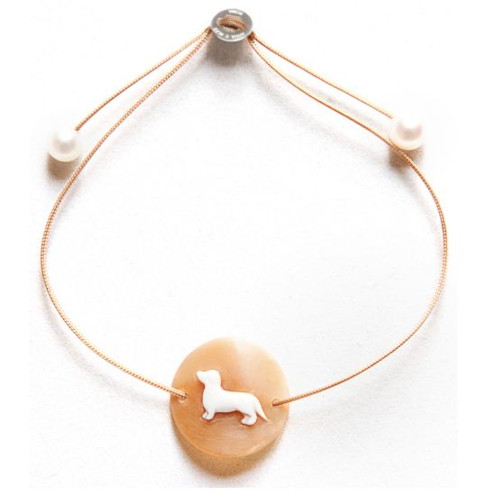 #Cameo Dog bracelet  A natural tattoo...to be worn always... #dachshund