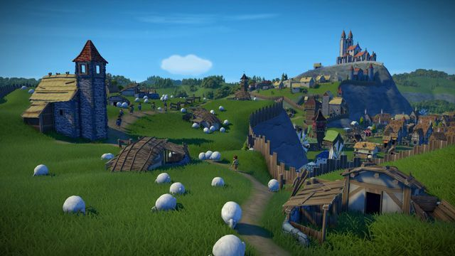 Medieval City Builder Foundation Is A Welcome Escape From Reality City Building Game Medieval Town Church Steeple