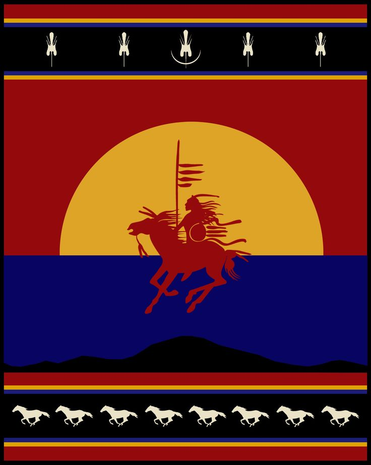 Comanche Pendleton Blanket, Comanche Nation Tourism Center ...