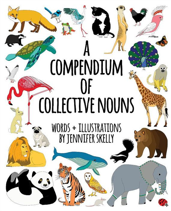 So excited that my book is now available on Etsy!  A Compendium Of Collective Nouns by redparka on Etsy, $25.00