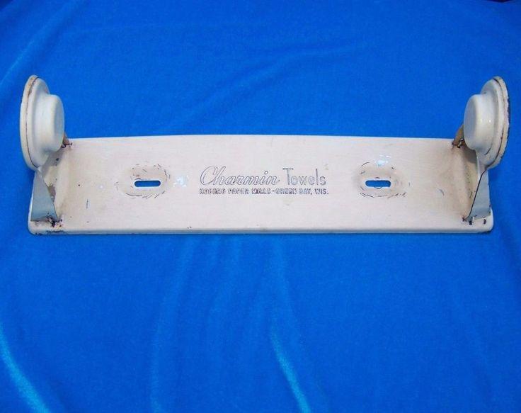 Vintage Charmin Paper Towel Holder Hoberg Paper Mills Cream MidCentury Green Bay #Charmin