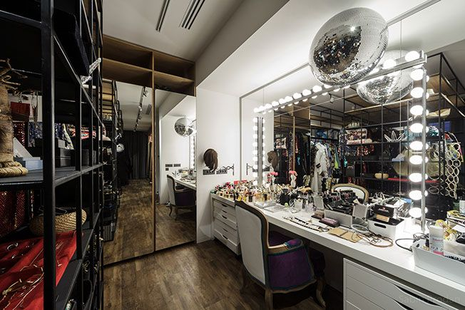 Dressing room with an eclectic take on the Backstage concept - Apartment M, Bucharest  Comments