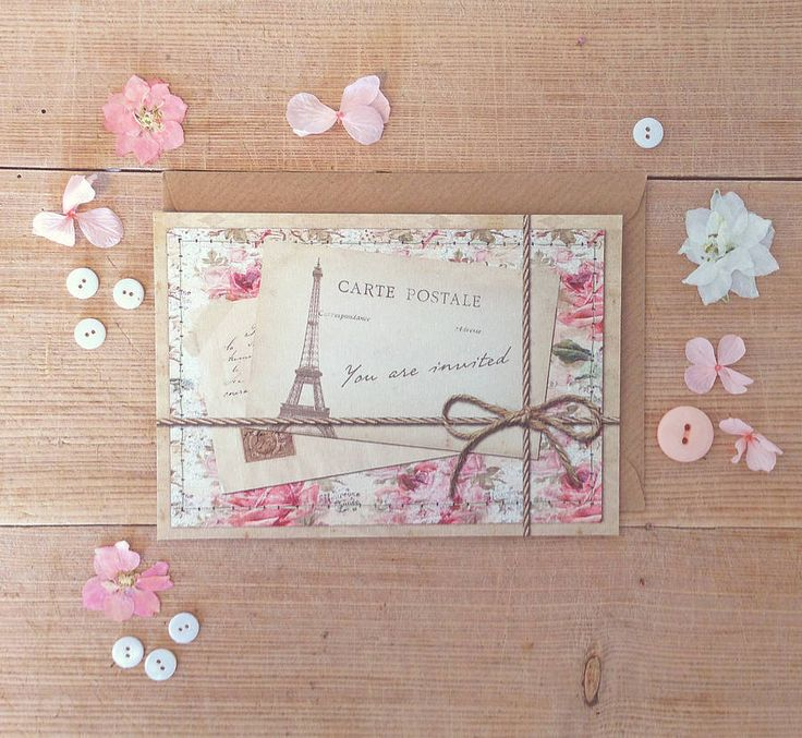 25 Love Letter Wedding Invitations Maybe this sort of feel but not Paris - maybe nod to Penang and Sydney?