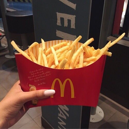 dark, delicious, fashion, fat, food, fries, girl, life, like, lush, luxury, mcdonalds, nails, paradise, perfect, quality, red, style, tumblr, we heart it, First Set on Favim.com