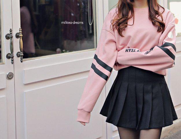 I Love This Style With The Oversized Sweater Kawaii Fashion Outfits Fashion Korean Fashion