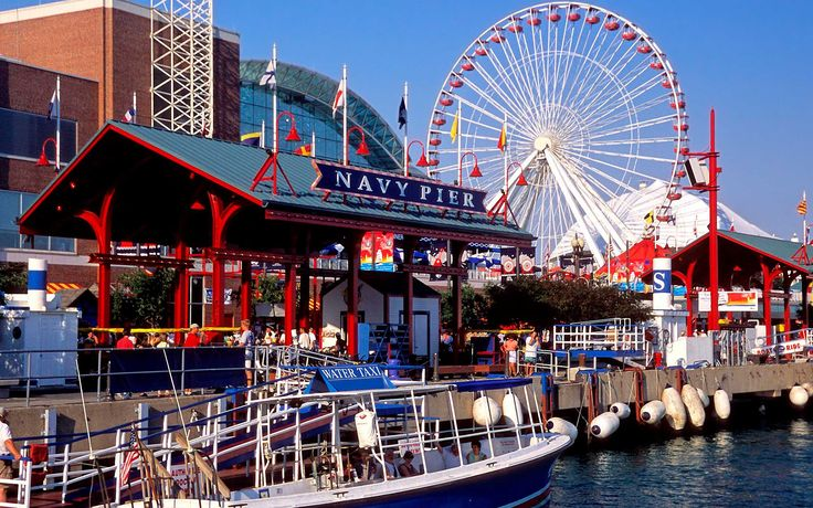 Navy Pier in Chicago is the Midwest's #1 tourist destination.