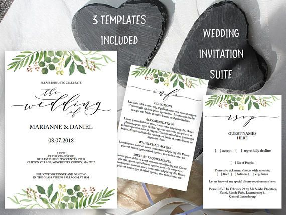 The 20 best Wedding Invitation Suites images on Pinterest Card