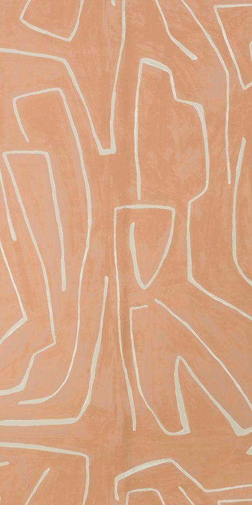 KELLY WEARSTLER | GRAFFITO WALLPAPER. In Salmon/Cream