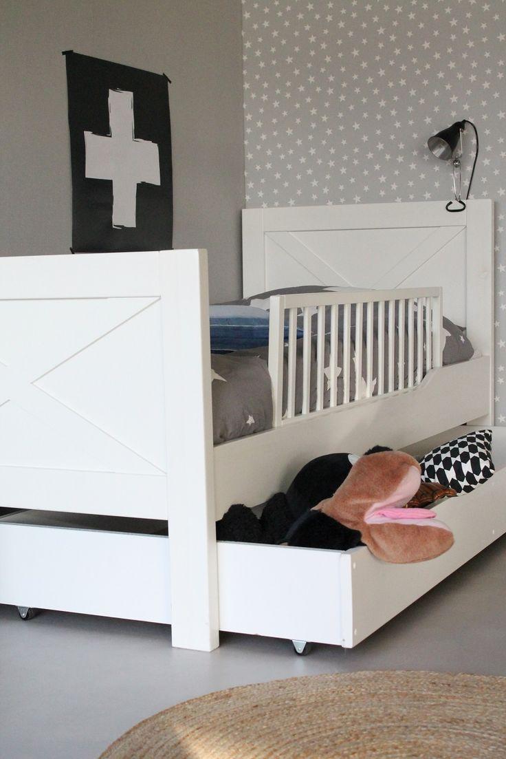 Baby jasper bed brackets - Stoer Jongensbed Met Kruis Wit Grenen Jongensbed Stoer Kruisbed Kinderbed