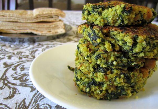 quinoa and spinach veggie burgers