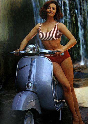 Vintage Vespa. Scooters