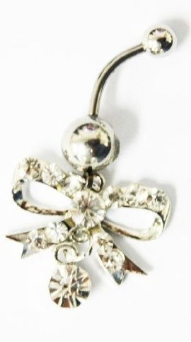 Bow Belly Button Ring cute if it was just a bow on the end though